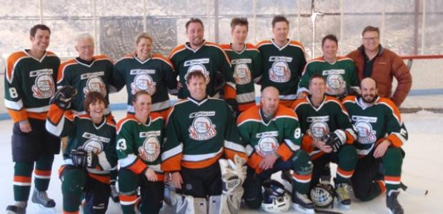 Image of ice hockey team in uniform